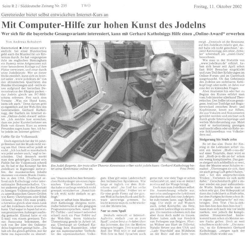 Jodelkurs.com - Dein Jodeldiplom mit langer Tradition