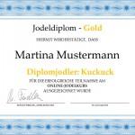 Das Jodeldiplom für Martina Mustermann