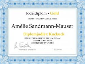 Jodeldiplom Amelié Sandmann-Mauser