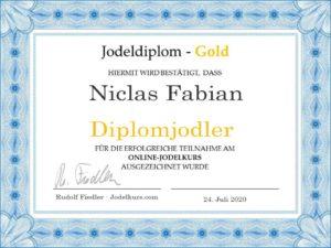 Jodeldiplom Niclas Fabian